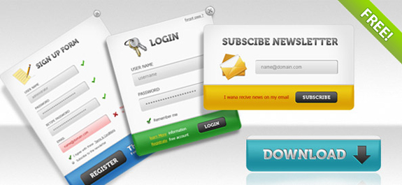 Sign Up Forms, Login Panels, Subscribe Forms