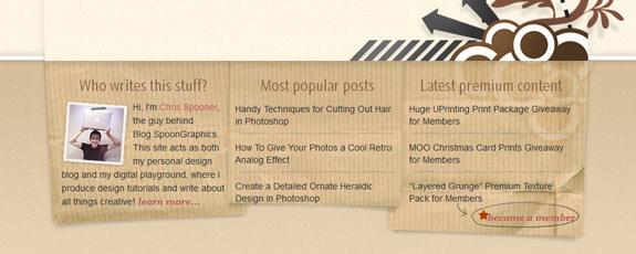 Blog Footer Design