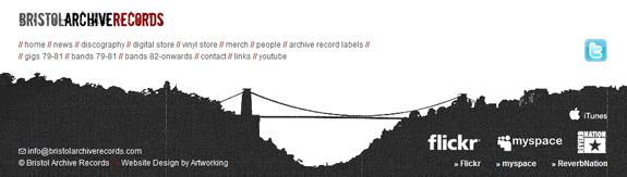 Bristol Archive Records - Footer Design