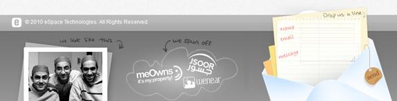 Espace - Web Footer Design