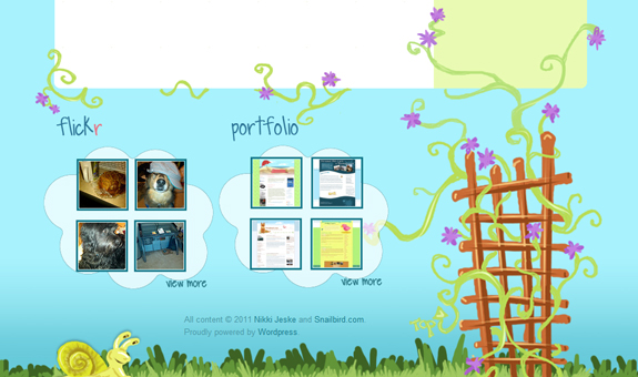 Snailbird Footer Design