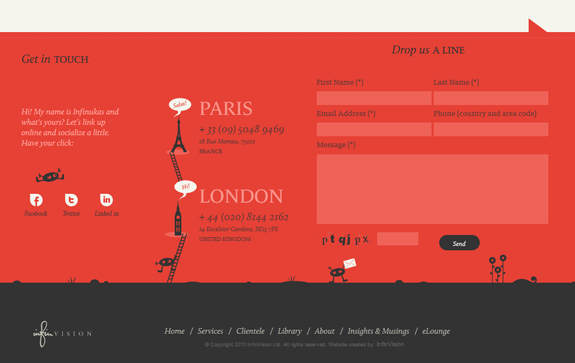 InfinVision - Footer Design