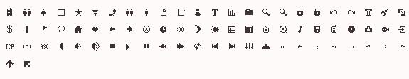 120 Pixel Icons