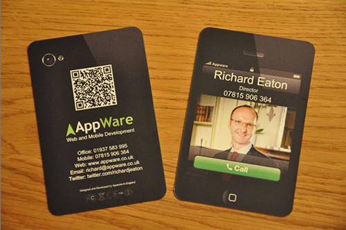 QR Code Business Card Design Ideas