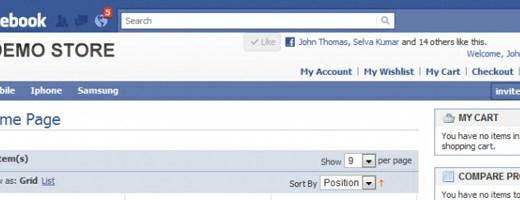 Facebook eCommerce Website
