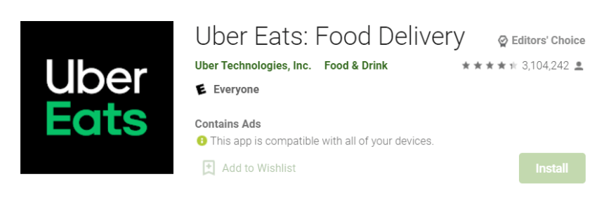 Uber Eats for Mac
