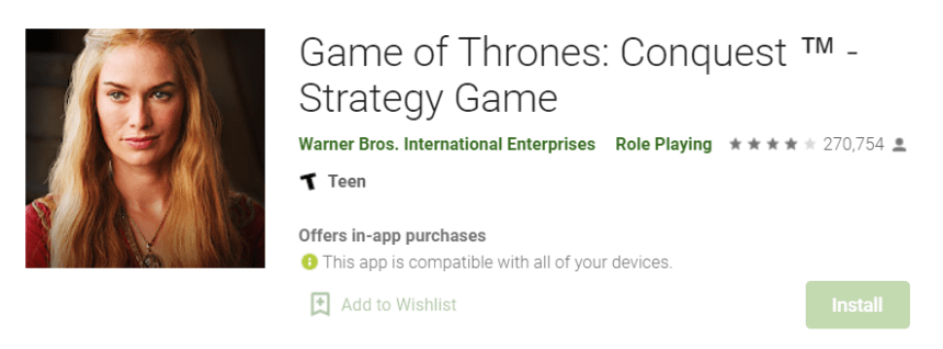 Game of Thrones Conquest for Mac