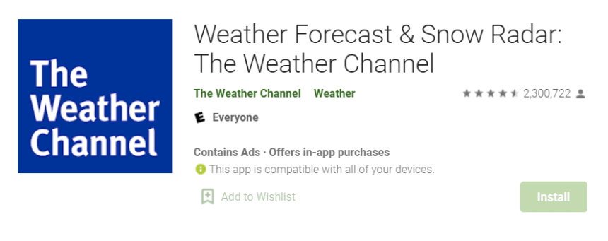 The Weather Channel for Mac