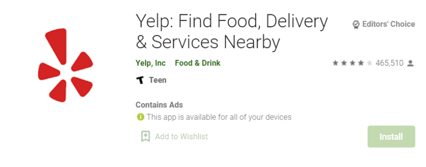 Yelp Delivery for Mac