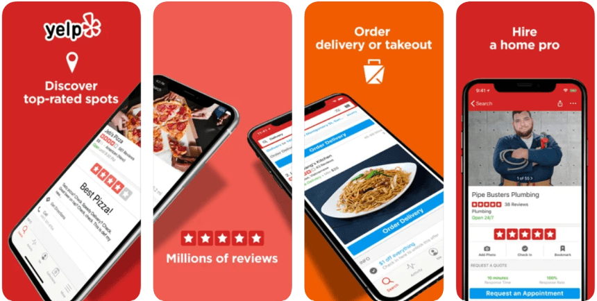 Yelp Delivery app PC download