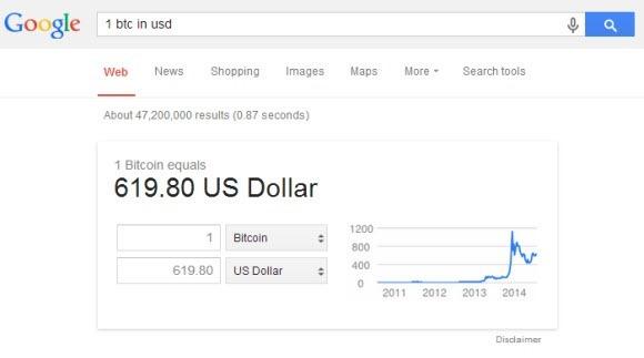 Convertisseur de monnaies Google
