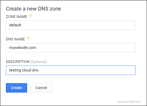 dns-zone-google-cloud-computing engine