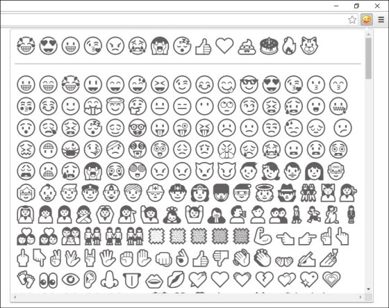 Emoji Extension for Chrome and Firefox