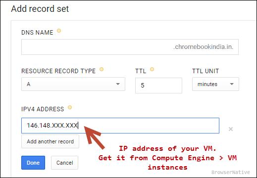 google-cloud-dns-a-record