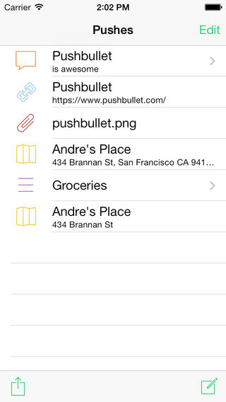pushbullet iPhone
