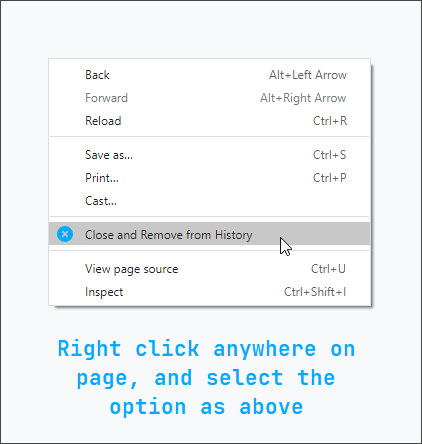 remove from history chrome extension