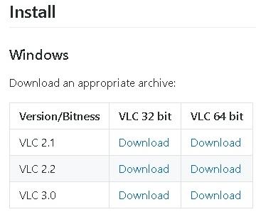 VLCの画面クリックで再生や停止をするプラグインのダウンロード