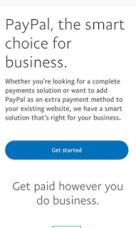 Getting started to create a PayPal account