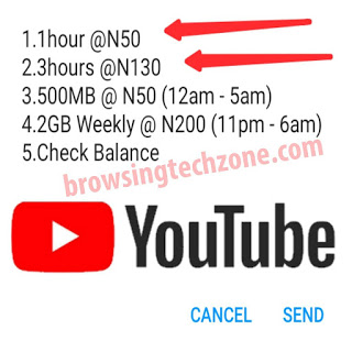 how to activate YouTube unlimited 1hr streaming with just N50