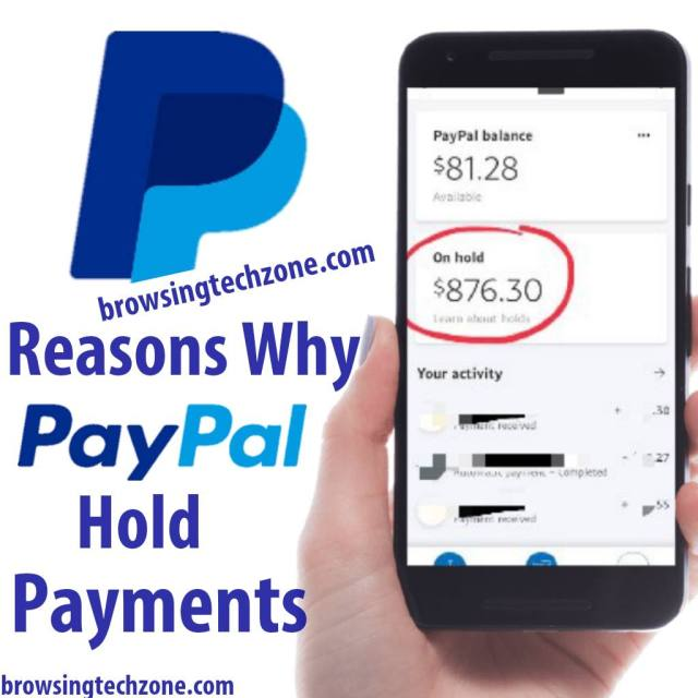 Reasons why PayPal hold money