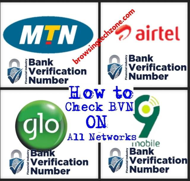 How to check bvn number on MTN, Glo, 9mobile and Airtel