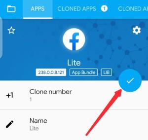 Clone app option