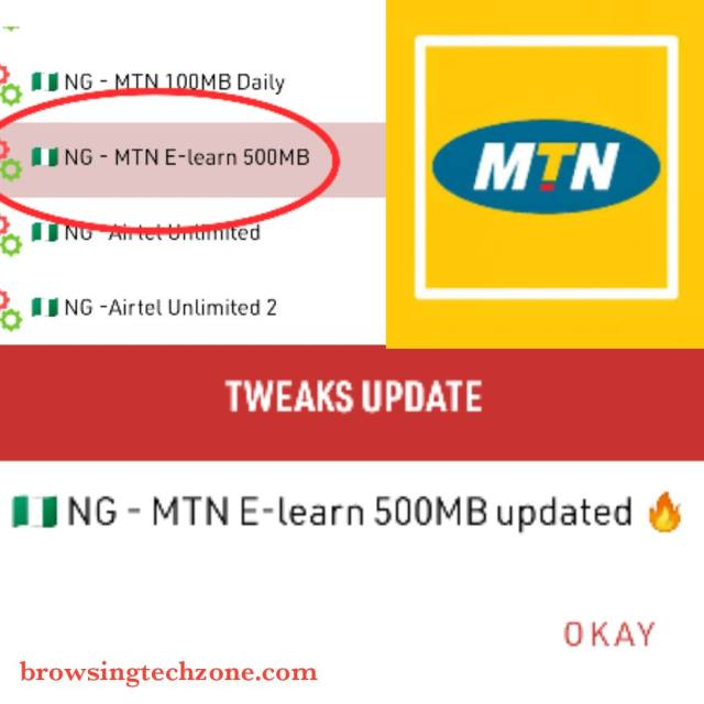 MTN E-learning 500MB Free browsing cheat
