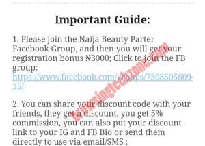 Naija beauty Facebook group