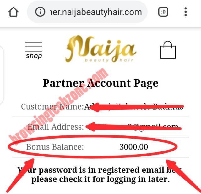 naija beauty hair referral program