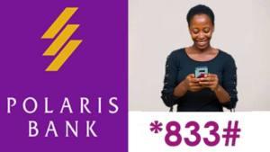 Polaris bank codes - Polaris *833# smart code