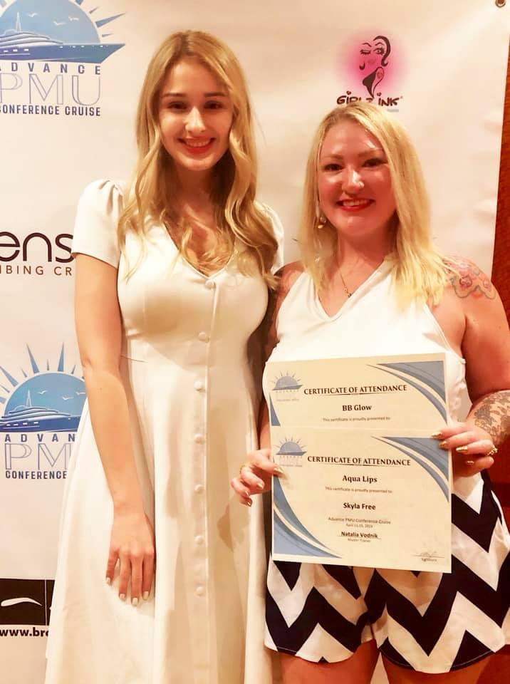 BB Glow and Aqua Lips training certifications