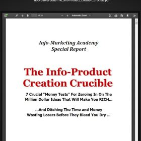 Download Info-Product Creation Crucible by Daniel Levis