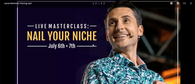 Download James Wedmore – Nail Your Niche Masterclass