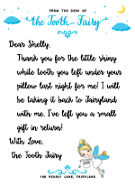 Luxury Tooth Fairy Letter Cover Letter Examples