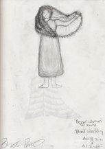 Costume Sketch - 'The Beggar Woman' - Act III