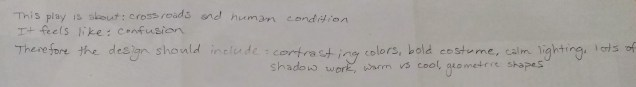 Concept Statement for Winter Play (by JBWC Students)