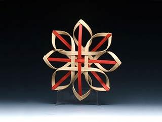 Billie Ruth Sudduth's Carolina Snowflake in Red and Walnut