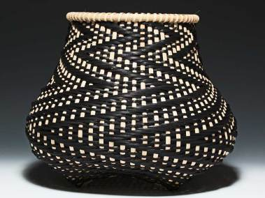 Fibonacci 5 Basket by Billie Ruth Sudduth