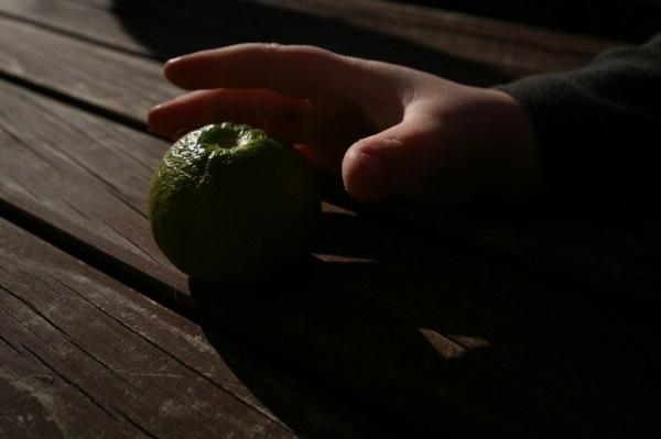 unripe grapefruit
