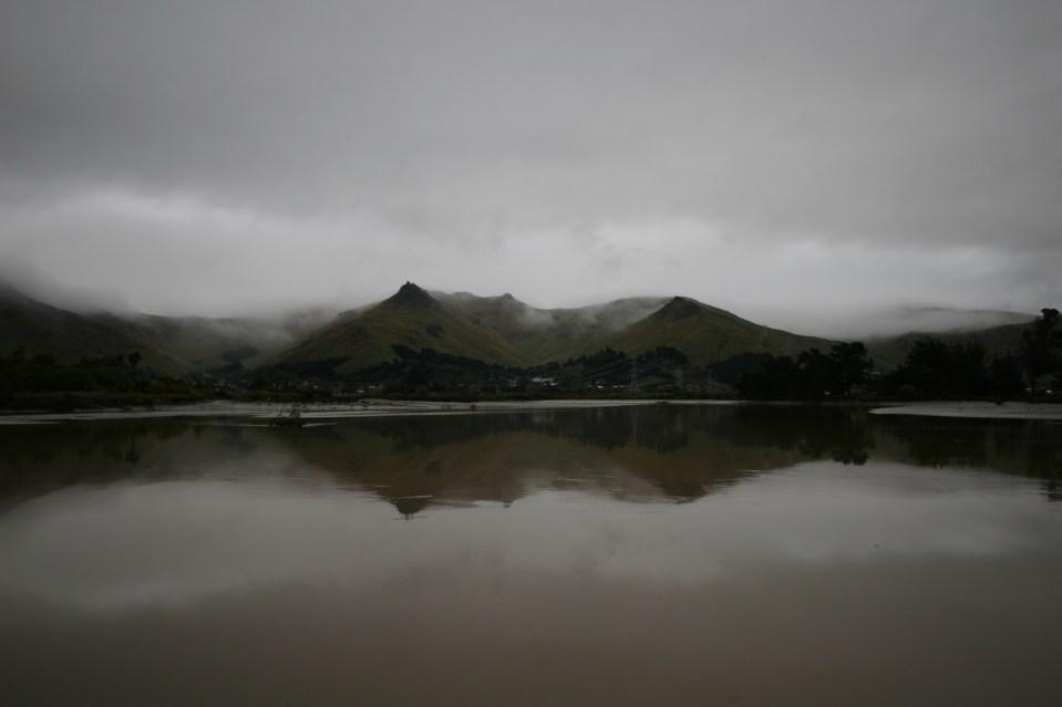 fog descending the mountains