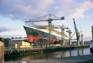 Launching of cruise ship