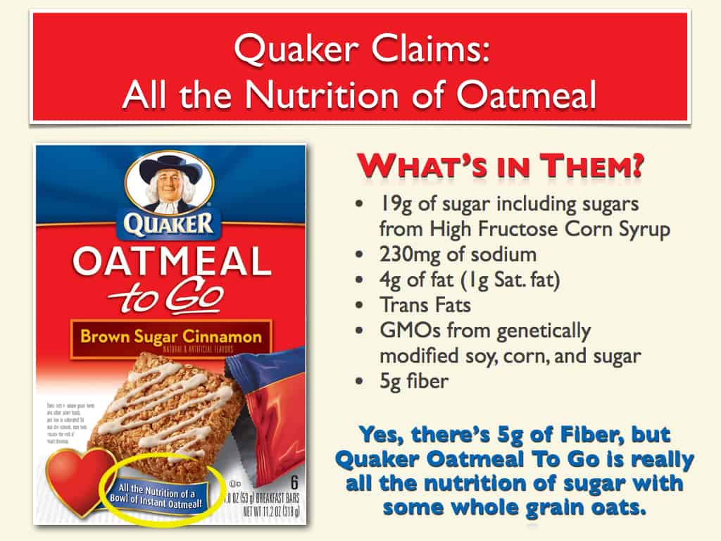 does quaker sell the goodness of oats or the addiction of sugar?
