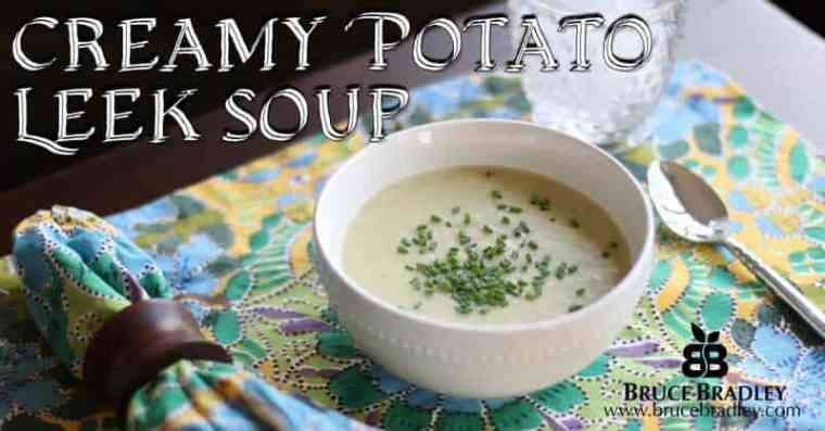 Creamy Potato Leek Soup is a delicious, easy meal any time of year!