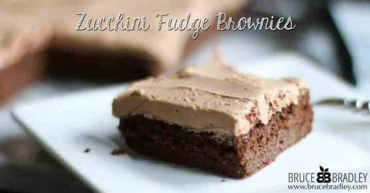 Bruce Bradley's Zucchini Fudge Brownies are so moist and delicious, your family won't believe there's zucchini in it!