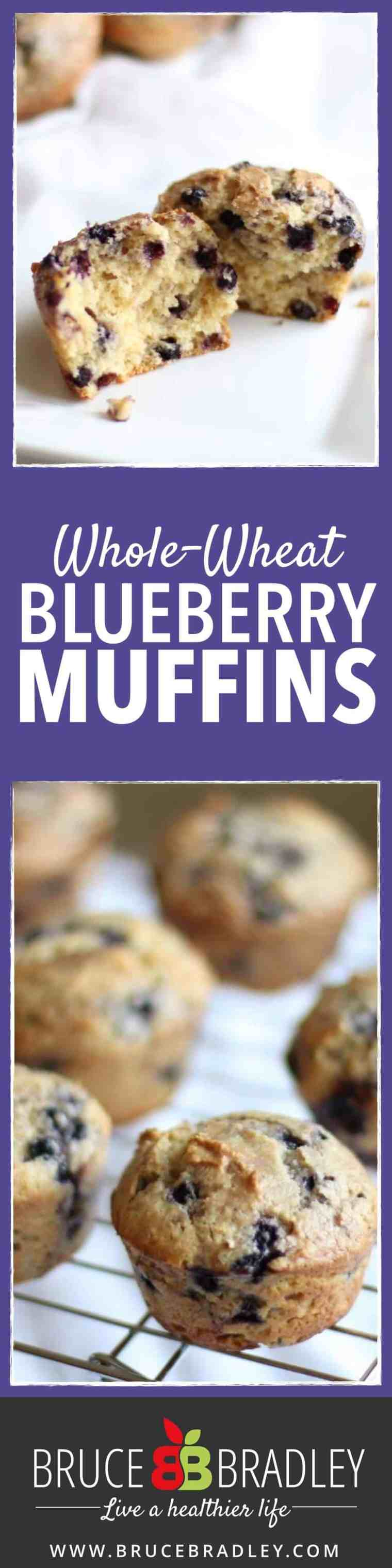 Bruce Bradley's Whole-Wheat Blueberry Muffin recipe is a delicious treat that uses real ingredients!