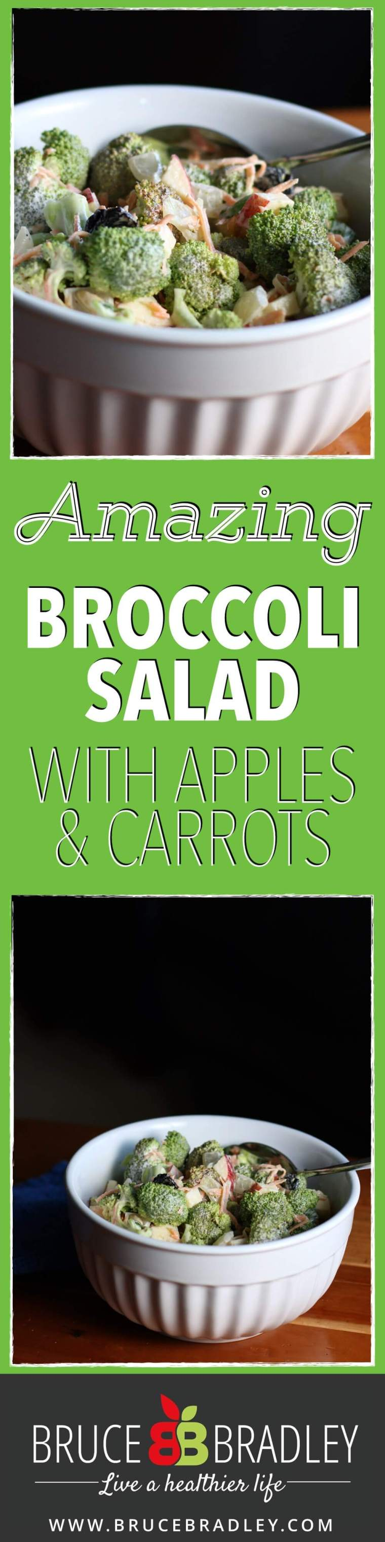 Bruce Bradley's Broccoli Salad is perfect as a main dish or side, and comes together in minutes! It's a great way to get your family eating more veggies and fruit!