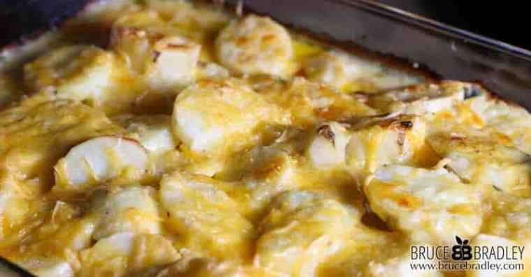 These homemade scalloped potatoes are made with a delicious cream sauce and lots of cheese—perfect for a holiday dinner or for entertaining!