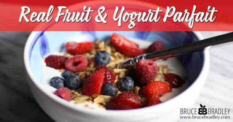 This delicious Real Fruit and Yogurt Parfait is such an easy, 3 ingredient breakfast that's made with little to no added sugar!