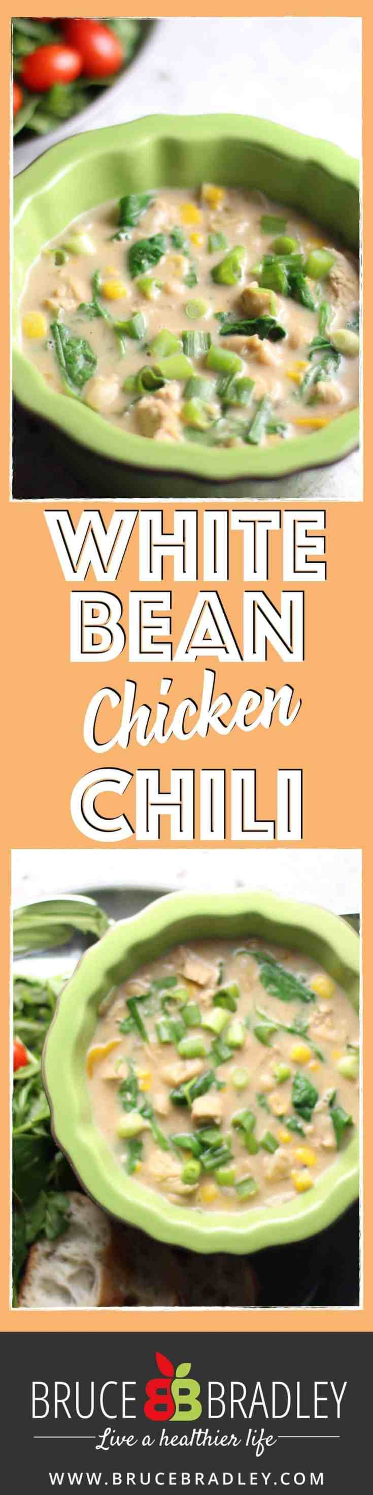 Made with fresh, real ingredients like onions, garlic, red pepper, chicken, white beans, corn, fresh greens, and a delicious blend of spices, this White Bean Chicken Chili recipe packs a flavorful punch.