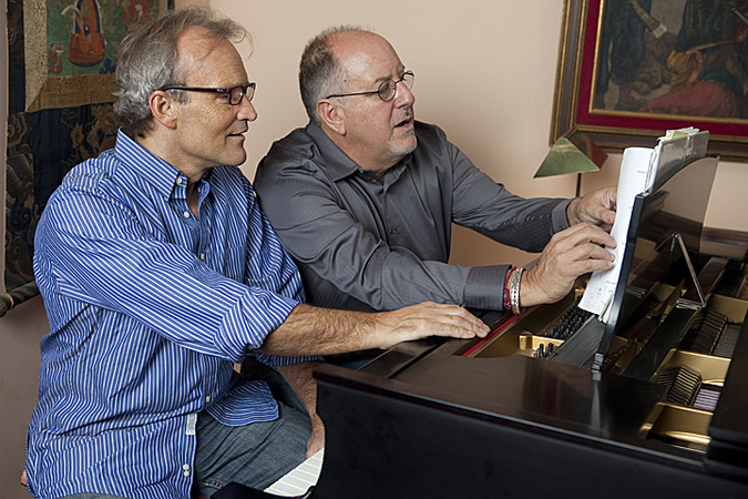 bruce cryer and gary malkin at the piano